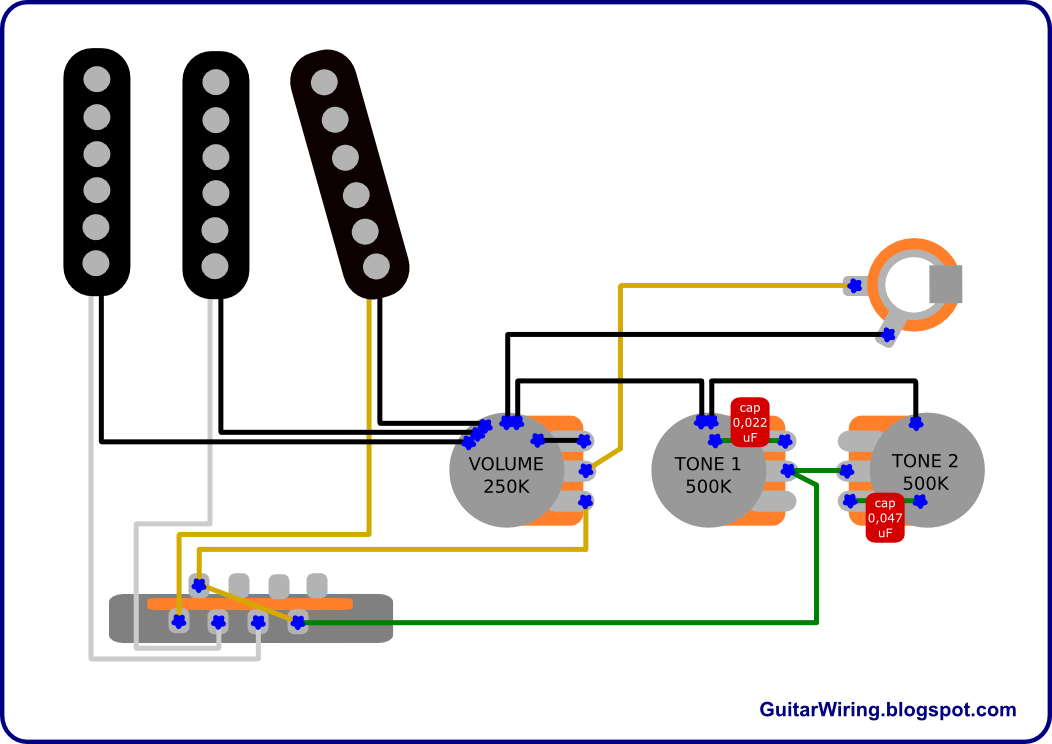 fender noiseless strat pickups wiring diagram 4 wire well pump the guitar blog - diagrams and tips