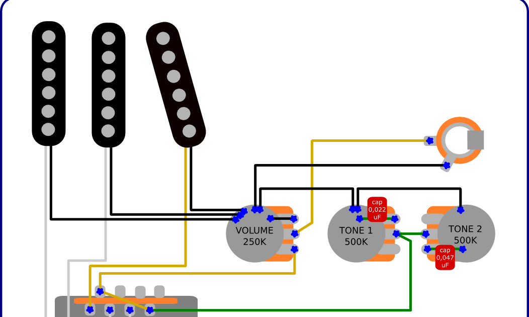 The Guitar Wiring Blog  diagrams and tips: Stratocaster Double Tone Control Mod