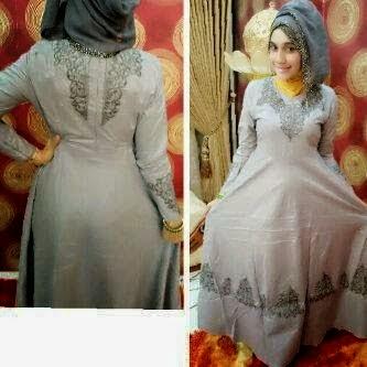 Baju Gamis Pesta Elegan Mewah Model Baru Desain Simpel Baju Gamis