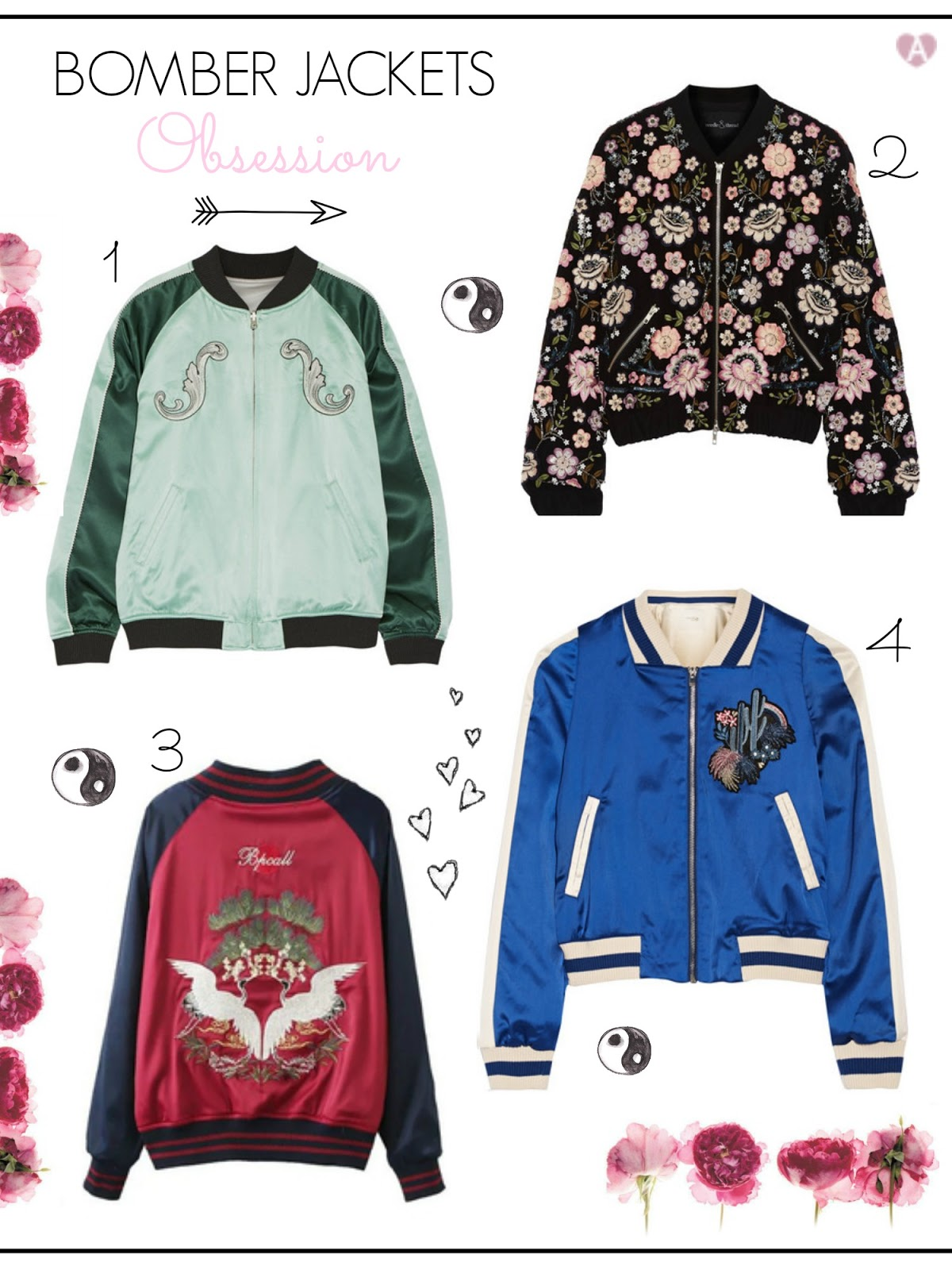Top picks: Embroidery bomber jackets