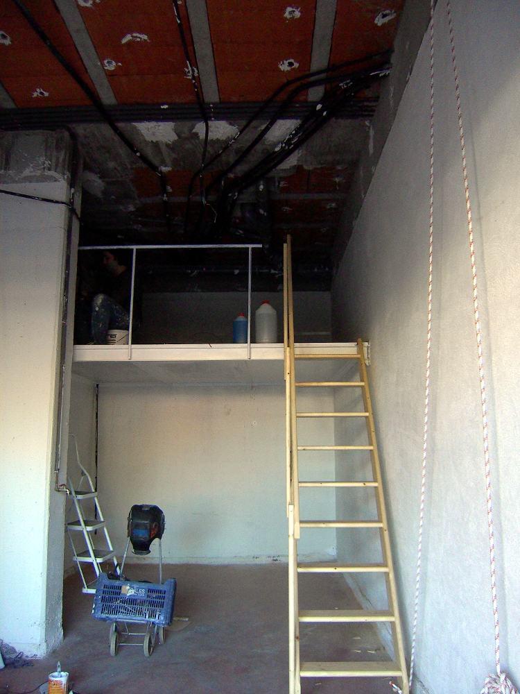 Supermanitas altillo para garaje con escalera abatible y - Construir un altillo ...