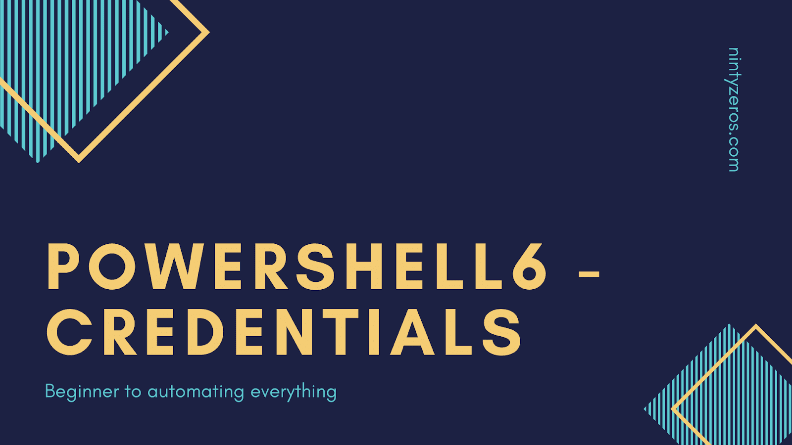 How to work with Credentials Parameter in powershell 6