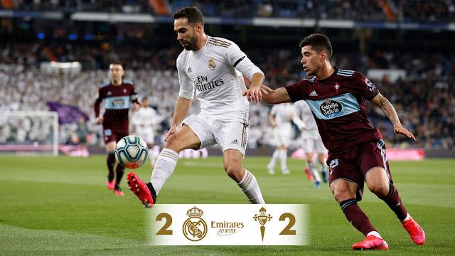Real Madrid 2-2 Celta Vigo, Hazard Returns, Madrid Drop Points (Video Highlight)