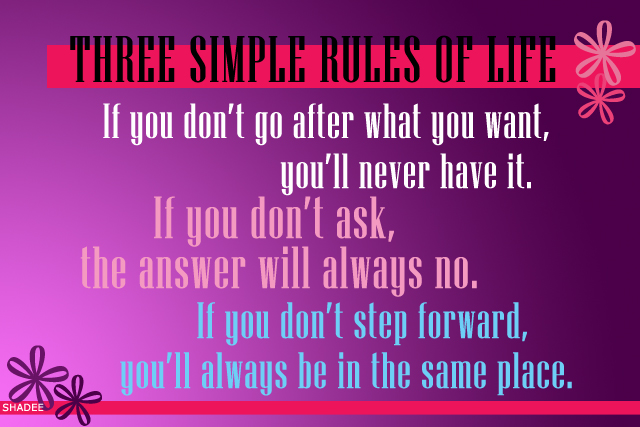 3 simple rules of life