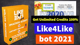 Like4Like Auto Bot v55.0 Unlimited Credits