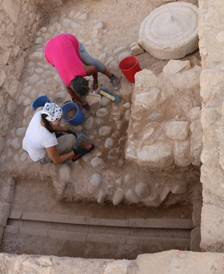 Greek inscription in Cypriot syllabary discovery on citadel of ancient Paphos