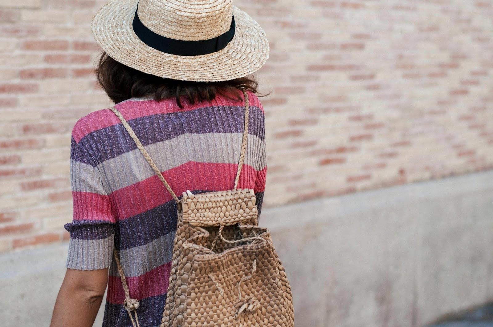 Vestido Zara, sandalias Mango, sombrero Lack of Color