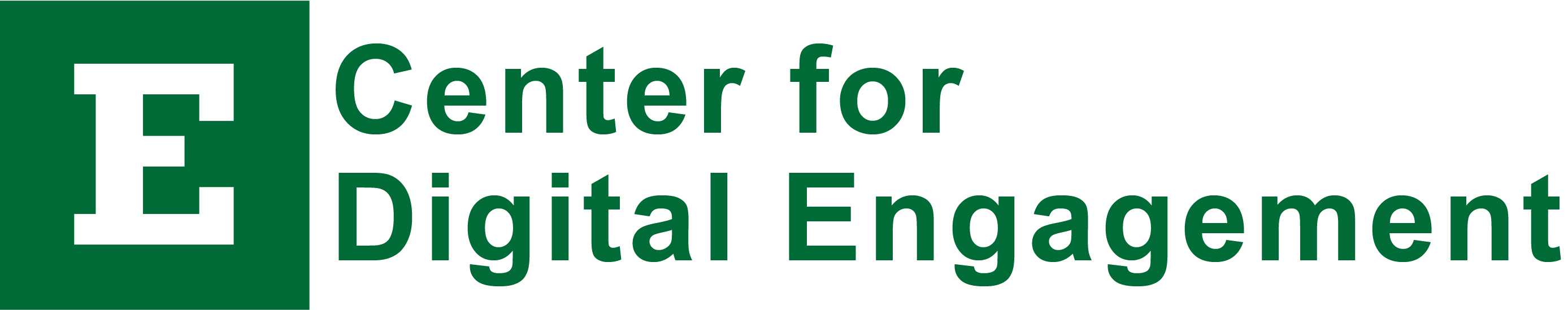 Eastern Michigan University Center For Digital Engagement Logo