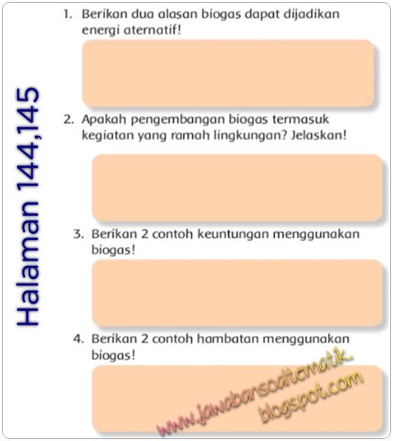 Kunci Jawaban Buku Tematik Kelas 3 Tema 6 Halaman 144 145 146