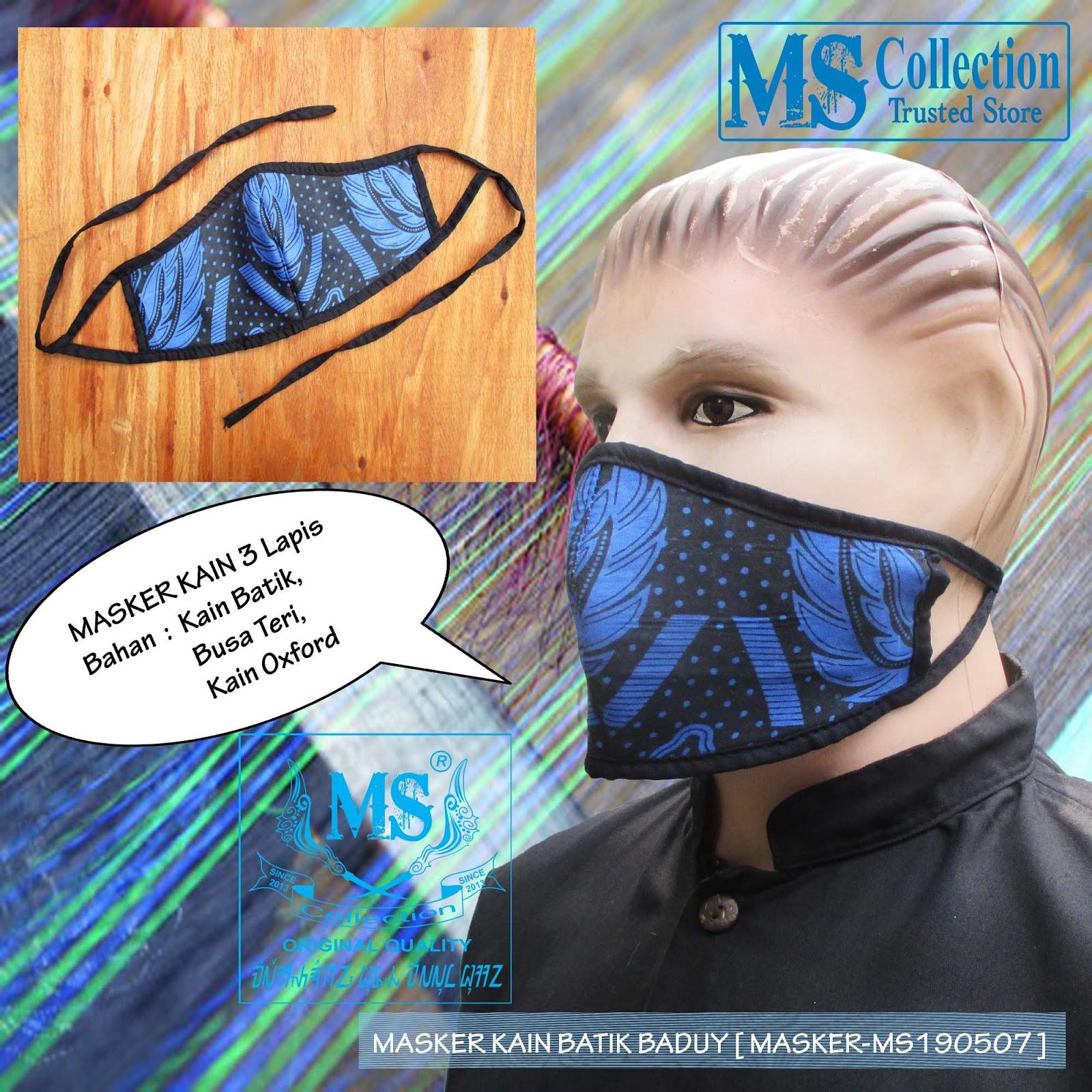 MASKER KAIN BATIK BADUY  MASKER-MS190507