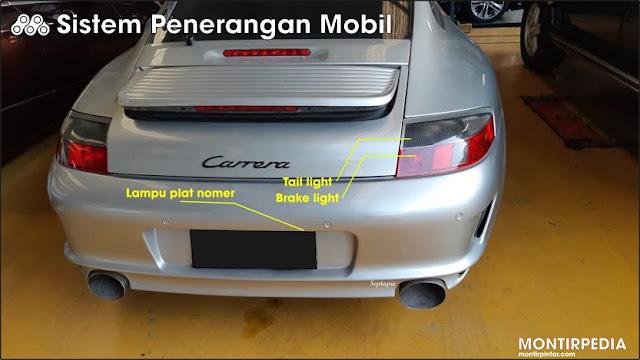 sistem penerangan pada mobil belakang