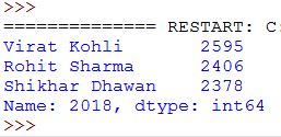 Select column in dataframe in python