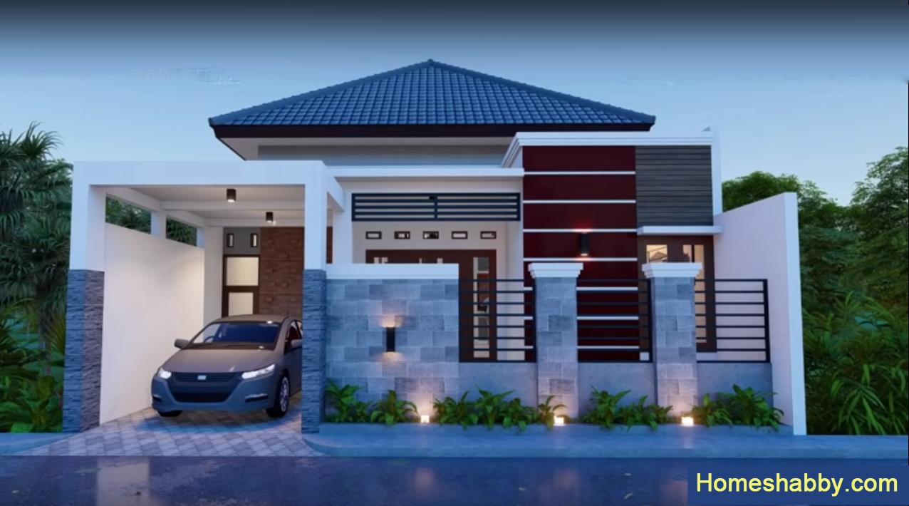 Desain Rumah Sederhana Tapi Tampil Megah Dengan Ukuran 9 X 13 M Terdapat 3 Kamar Tidur Homeshabby Com Design Home Plans Home Decorating And Interior Design