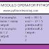 Modulo Operator python-modulus in python