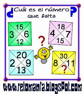 Descubre el número, El número que falta. Piensa rápido, ¿Cuál es el número que falta?, ¿Cuál es el número que sigue?
