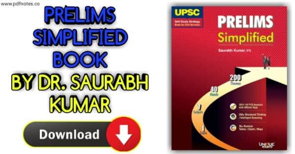 Unique UPSC Prelims Simplified Book PDF by IFS Saurabh Kumar