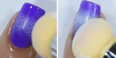 fazendo um degradê com esmalte branco na unha
