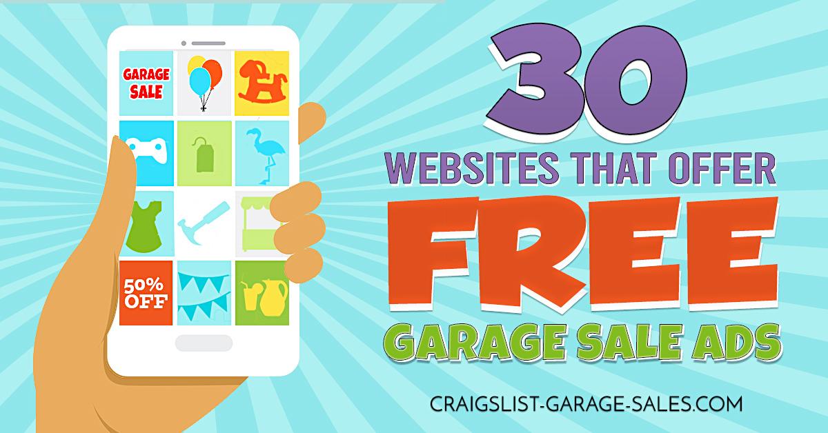 Free Garage Sale Ads Online