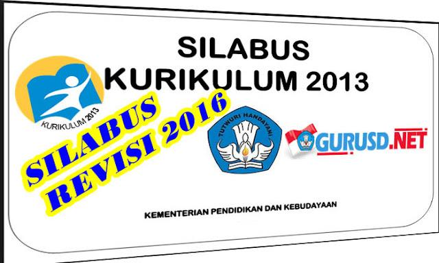 Silabus SD Kurikulum 2013 Semua Kelas Revisi Tahun 2016