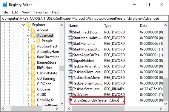 Menambahkan Detik di Jam atau Clock Windows 10