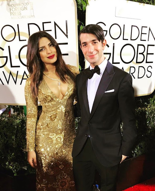 Priyanka looked ethereal in Ralph Lauren Golden Gown as she got ready to be presenter