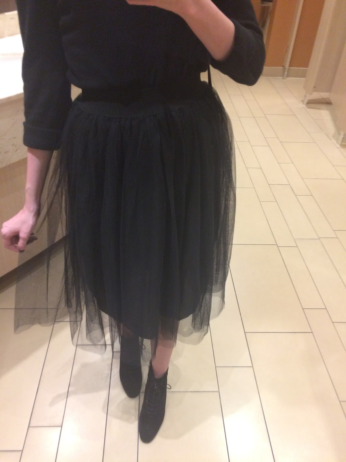 how to wear a midi skirt, new look tulle midi skirt