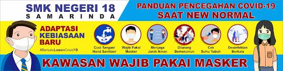 Free Desain Spanduk Wajib Pakai Masker