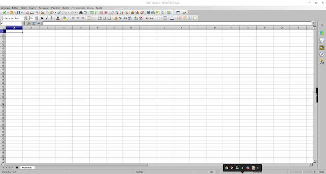 LibreOffice Calc no Deepin