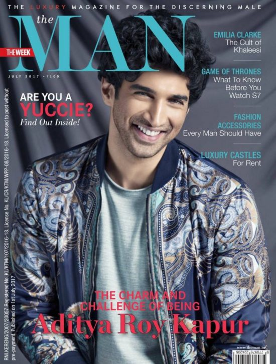 Aditya Roy Kapoor On The Cover of THE Man Magazine July 2017