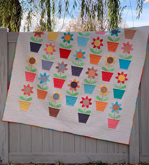 Fall Flower Pots Quilt designed by Lori Holt of Bee in my Bonnet