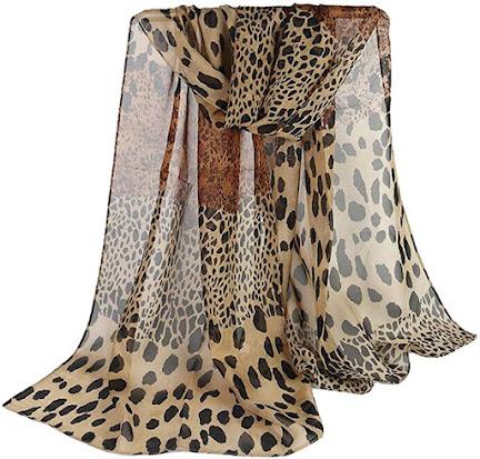 Best Leopard Print Chiffon Scarves
