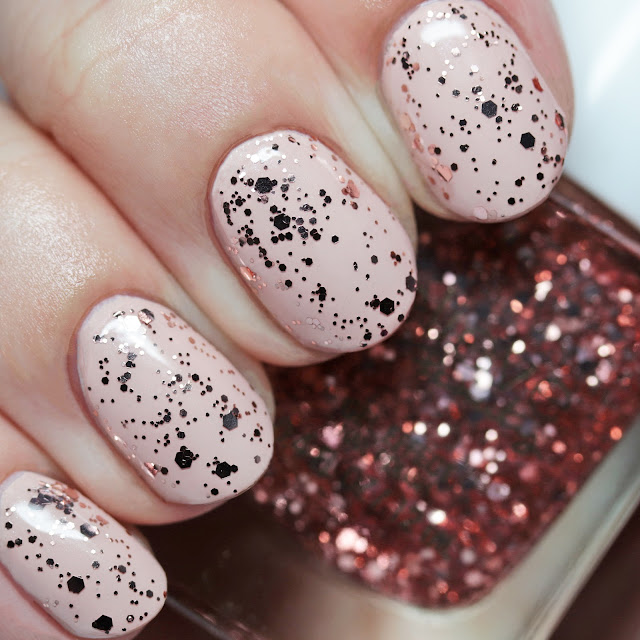 Believe Beauty Gel Effect Nail Polish Rose Gold over Girl Talk