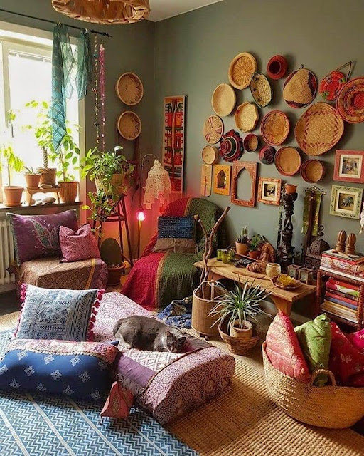 Living Room Decorating Ideas with Bohemian Home Decor