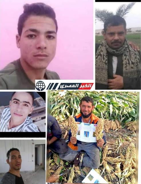 الحزن يخيم على قرية الحمام ببني سويف بعد مصرع 3 شباب في حادث سير