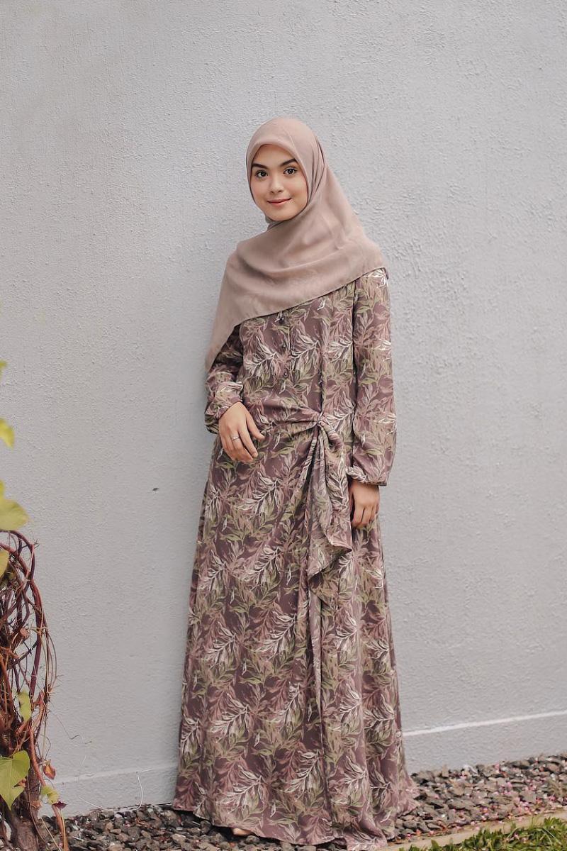 Dress Motif baju lebaran motif gamis dan manis Hijab manis