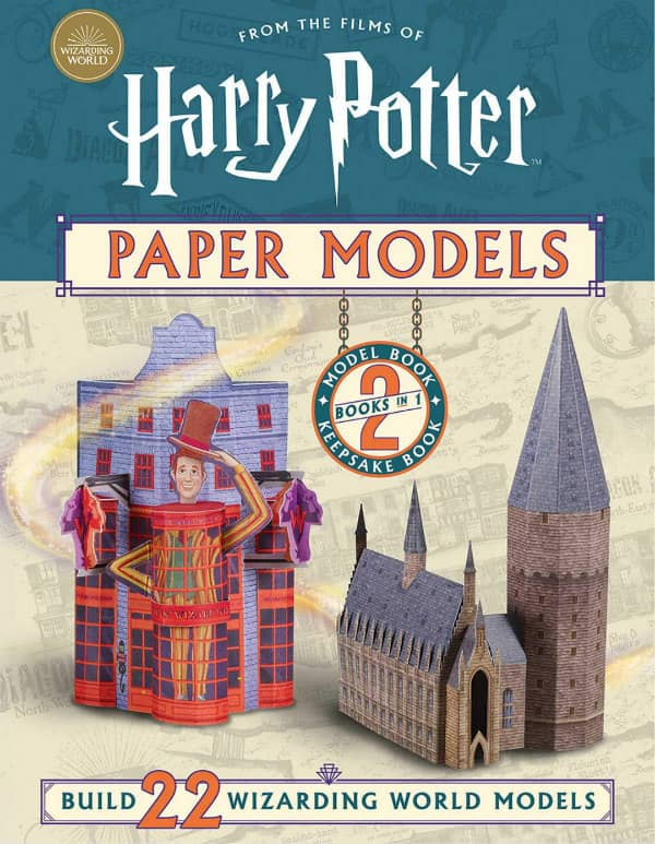 paper craft book of Harry Potter landmarks and buildings to cut and fold