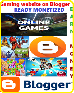 Gaming website on blogger, ready monetized