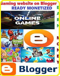 Online Gaming website on Blogger (Ready Monetized)