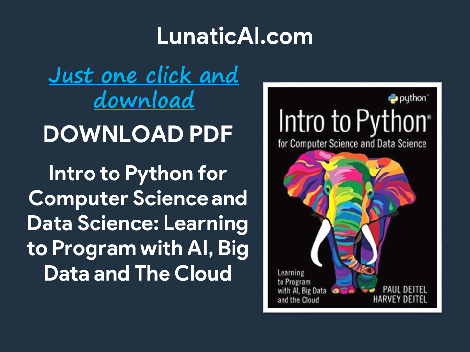 intro to python for computer science and data science pdf github