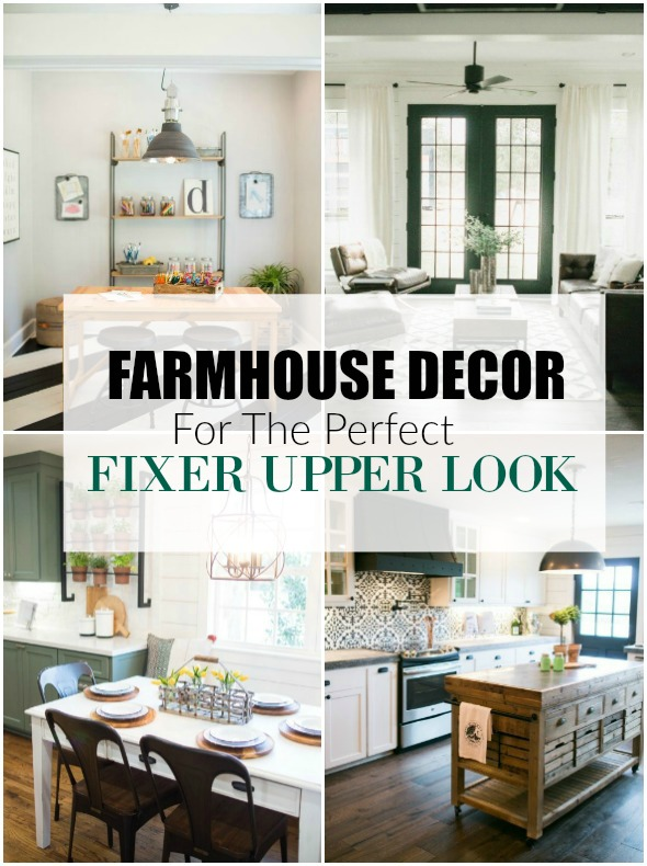 Affordable FARMHOUSE decor for the perfect FIXER UPPER look! Littlehouseoffour.com