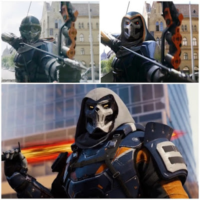 Different mask Of Taskmaster In Marvel Black Widow