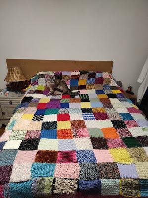 couverture patchwork tricot