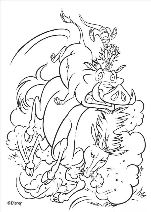 Timon And Pumbaa The Lion King Coloring Page | Malvorlagen pferde ... | 850x607