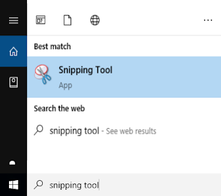 snipping tool screenshot