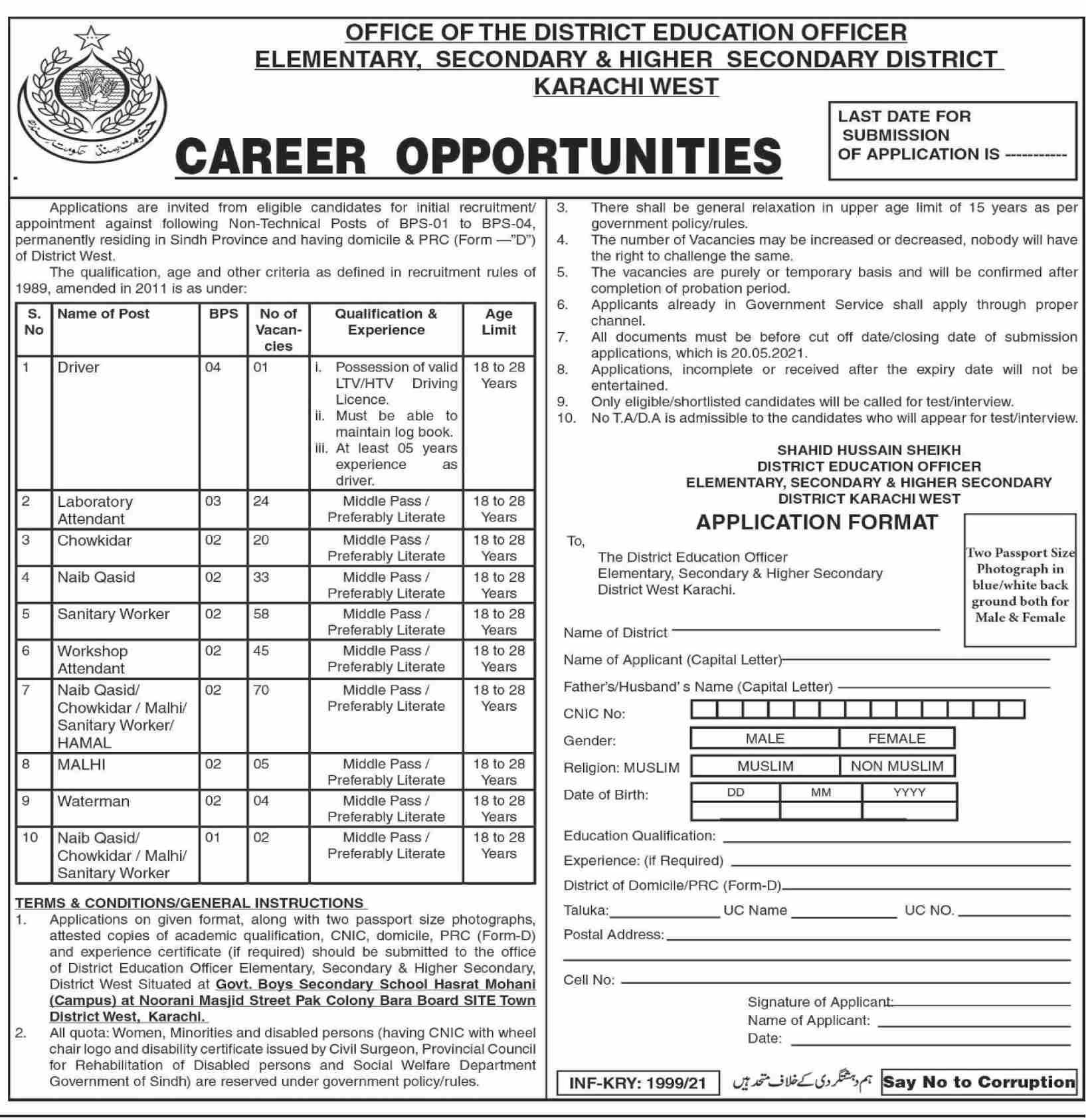 Latest Elementary Secondary & Higher Secondary Education Jobs 2021