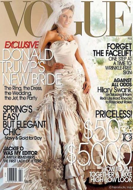 Melania trump vestido de noiva na revista vogue