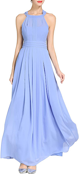 Good Quality Chiffon Halter Bridesmaid Dresses
