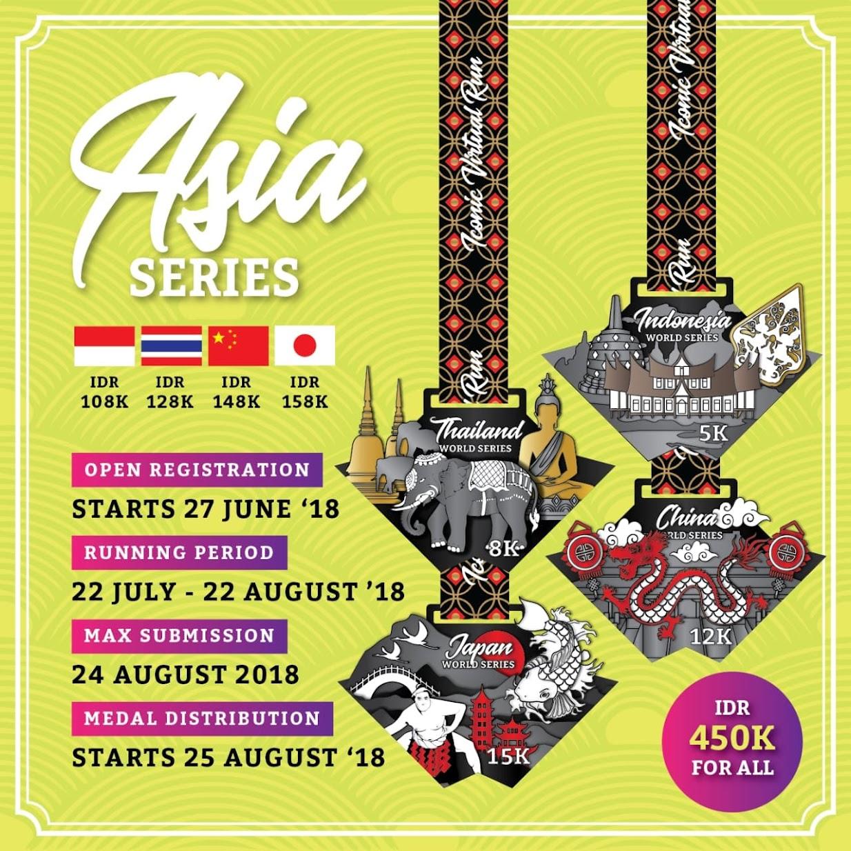 Iconic Virtual Run - Asia Series • 2018