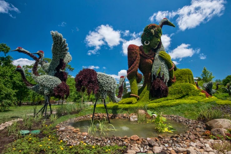 Amazing Plant Sculptures in Mosaiculture Festival in Montreal, Canada