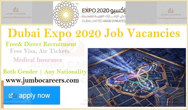 Dubai Expo 2020 Latest Job Openings and Staff Recruitment March 2019